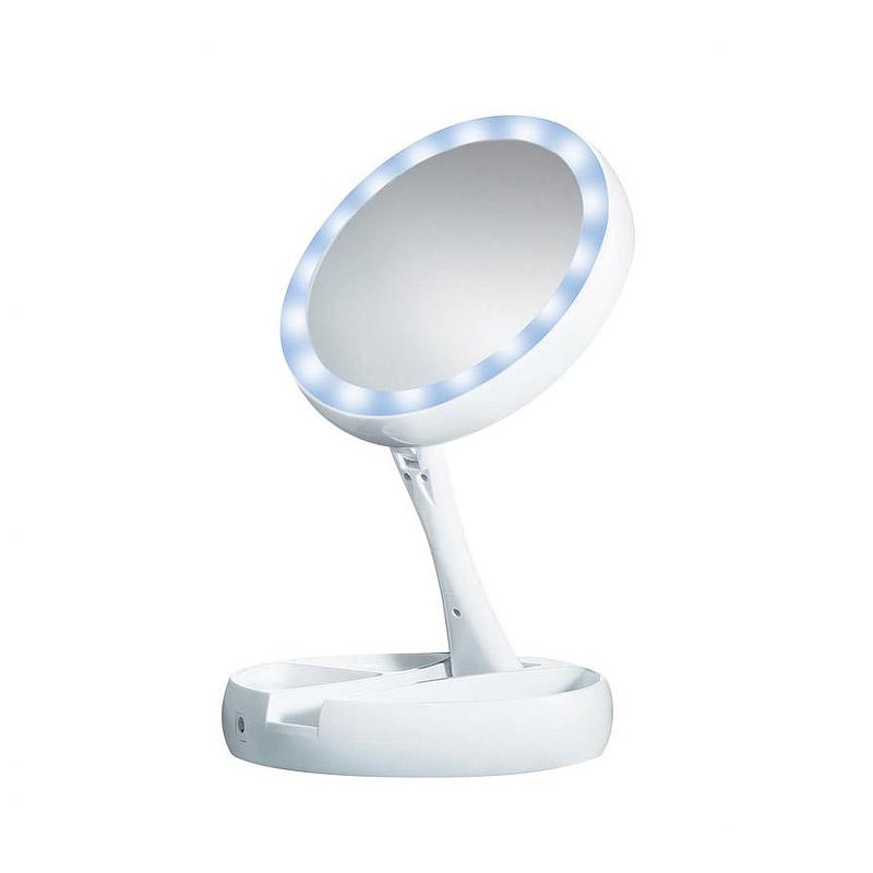 Πτυσσόμενος Διπλός Μεγεθυντικός Καθρέπτης με Φωτισμό LED GEM BN4223
