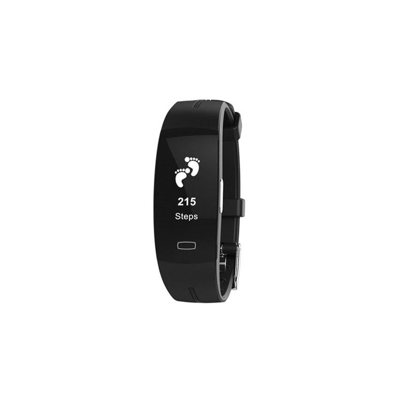 Ρολόι Fitness Tracker Apachie με Μετρητή Καρδιακών Παλμών Χρώματος Μαύρο NURAITRKBLK
