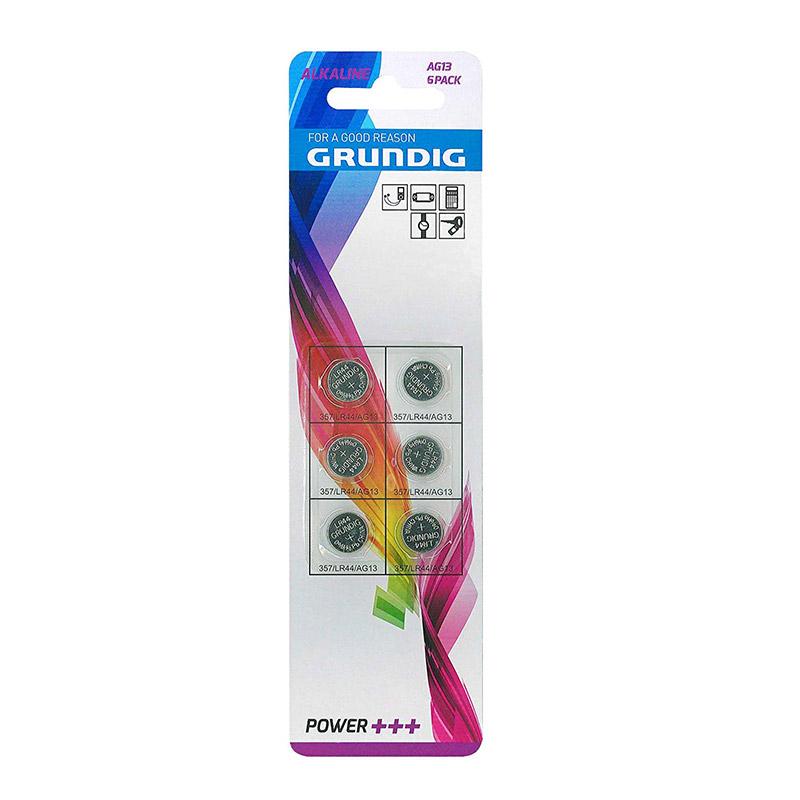 Σετ Αλκαλικές Μπαταρίες Κουμπιά AG13 1.5 V 6 τμχ Grundig 85578