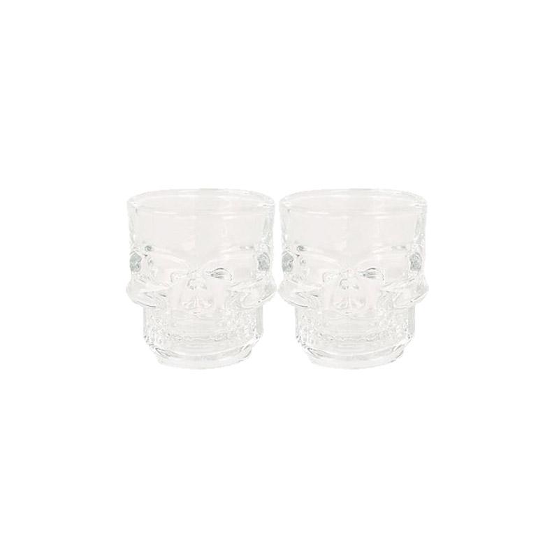 Σετ Γυάλινο Μπουκάλι Κρανίο με 2 Ποτήρια GEM BN5567