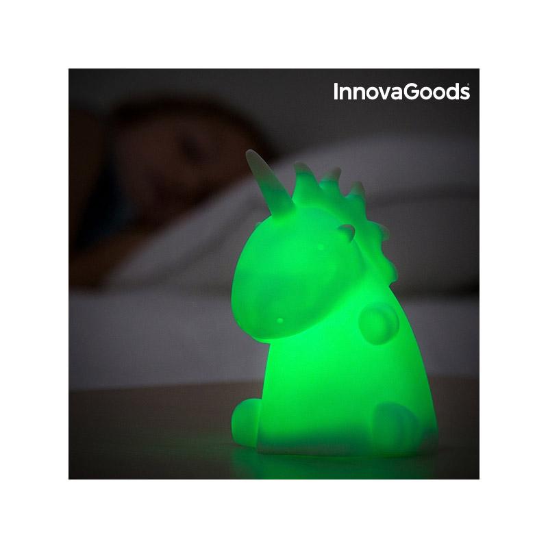 Πολύχρωμη Λάμπα Μονόκερος με Φωτισμό LED InnovaGoods V0100966