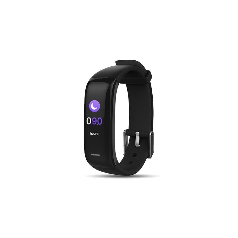 Ρολόι Fitness Tracker Apachie Infinity P1 Plus με Μετρητή Καρδιακών Παλμών Χρώματος Μαύρο INFINITYTRKBLK