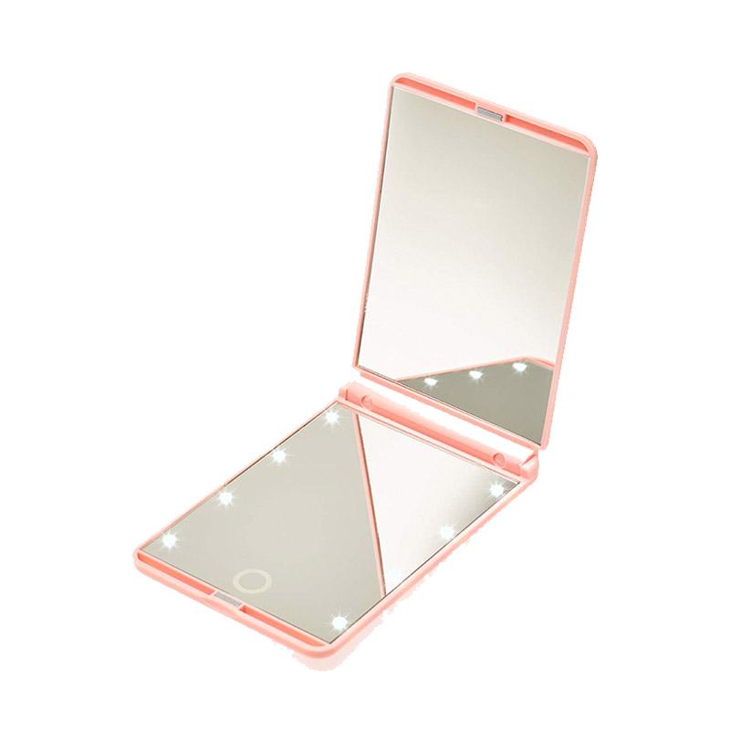 Φορητός Καθρέπτης Ταξιδίου με Οθόνη Αφής LED GloBrite Χρώματος Ροζ LEDTravelMir-Pink
