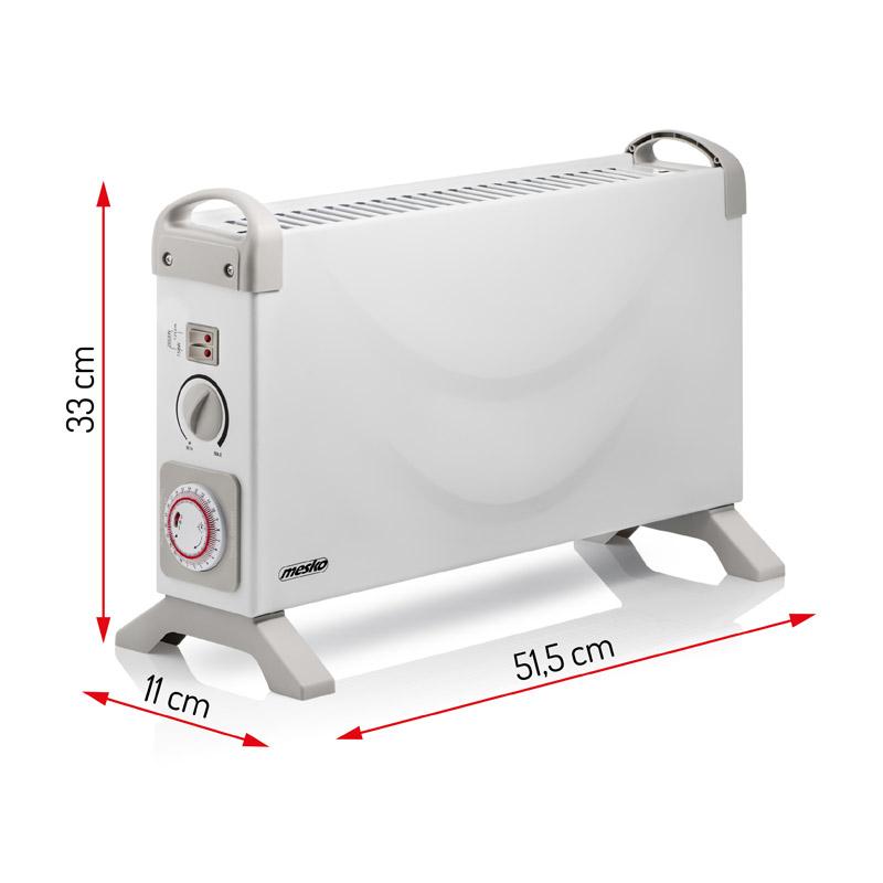 Φορητός Θερμοπομπός 2000 W 51.5 x 33 x 11 cm Mesko MS-7713