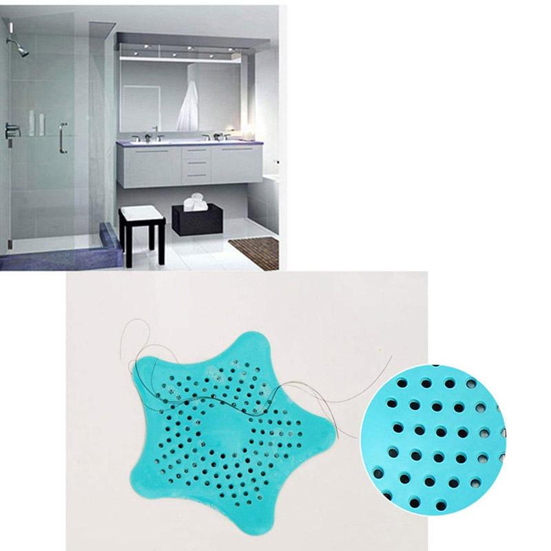 Τάπα Σιφωνιού για τις Τρίχες σε Σχήμα Αστερία Χρώματος Μπλε StrafHairCatch-Blue
