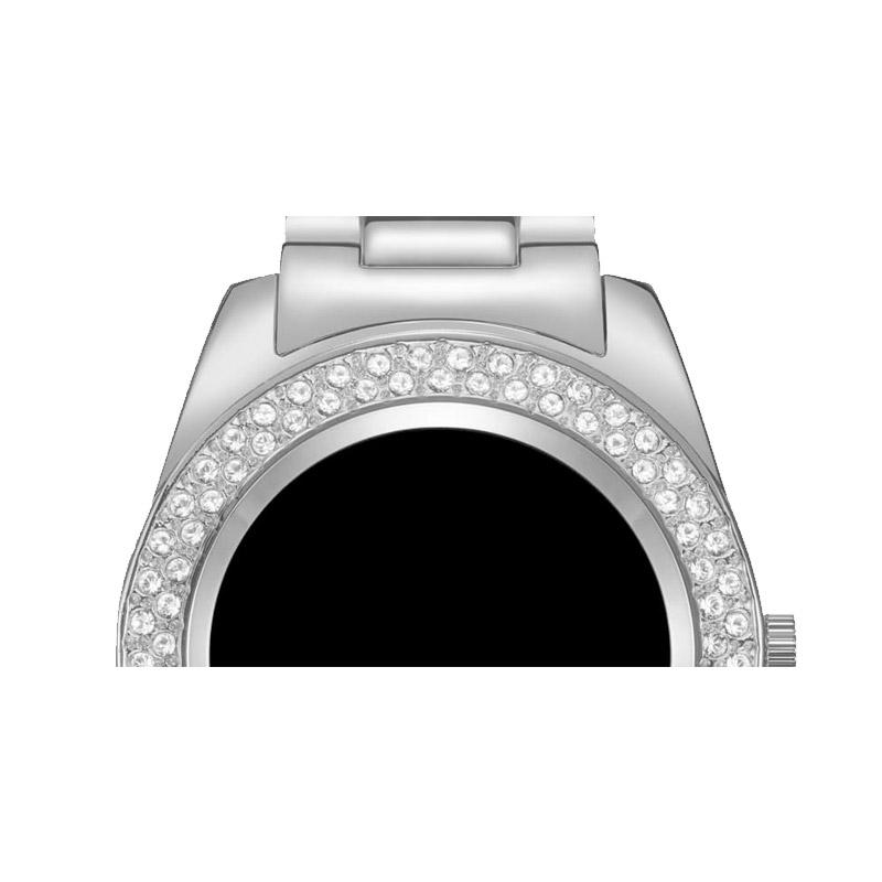 Γυναικείο Smartwatch Χρώματος Ασημί με Μεταλλικό Μπρασελέ και Κρύσταλλα Swarovski® Timothy Stone SW-013-ALSL