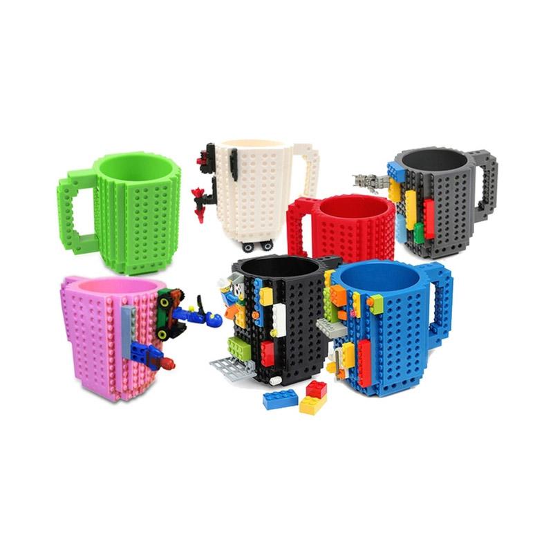 Κούπα Τύπου Lego Χρώματος Κόκκινο SPM BrickMug-Red