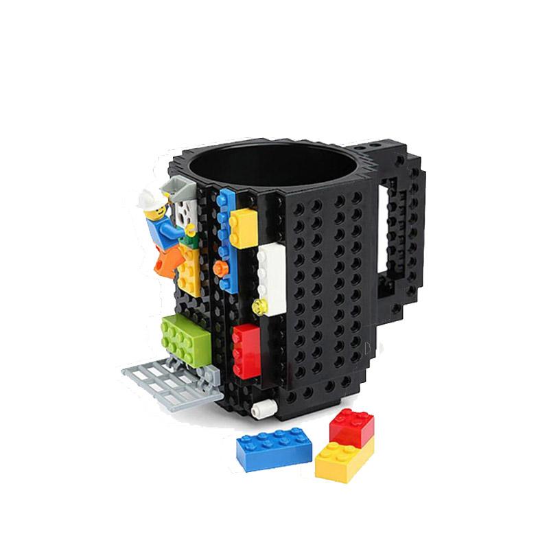 Κούπα Τύπου Lego Χρώματος Μαύρο SPM BrickMug-Black