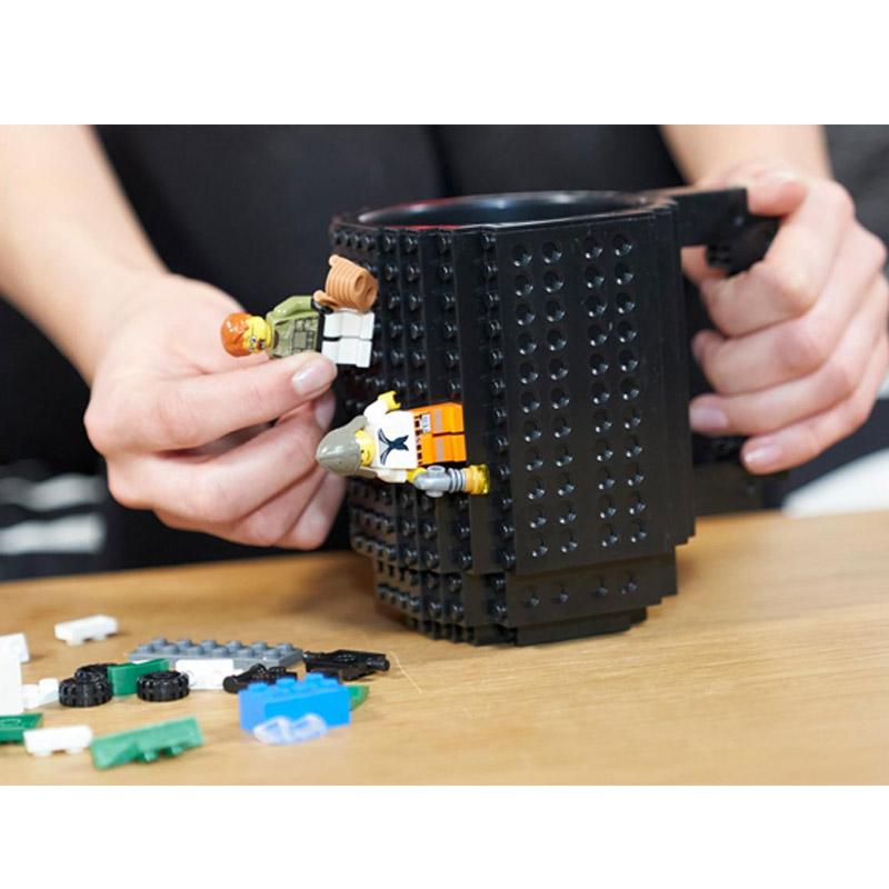 Κούπα από Lego Χρώματος Μαύρο SPM BrickMug-Black