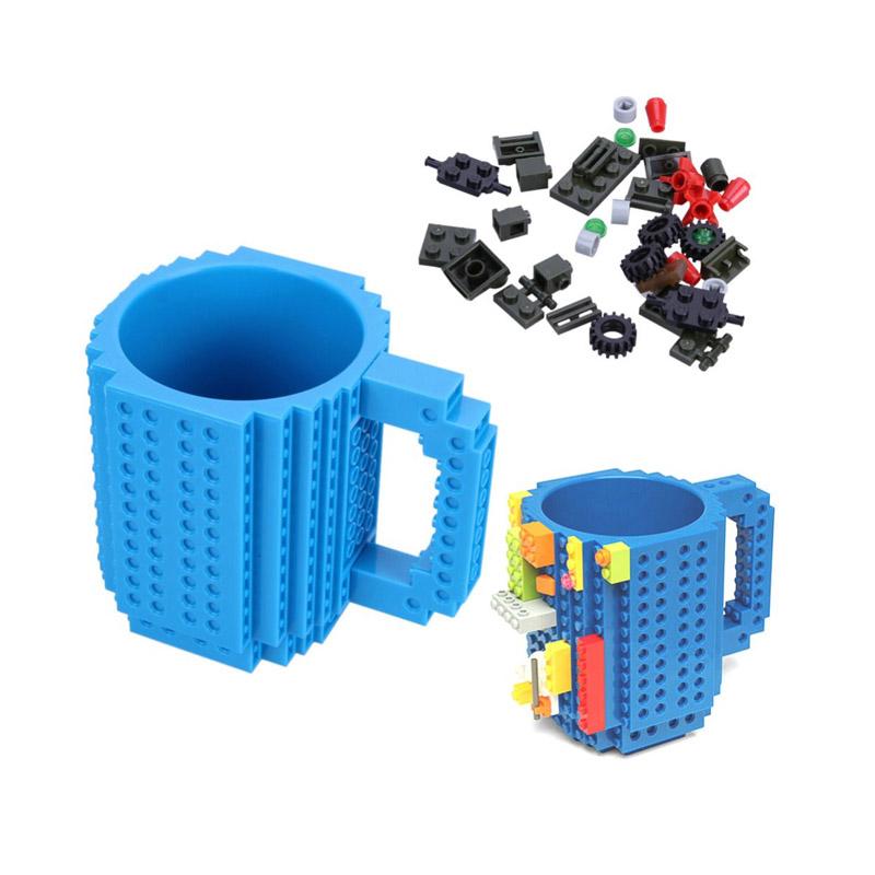 Κούπα Τύπου Lego Χρώματος Μπλε SPM BrickMug-Blue