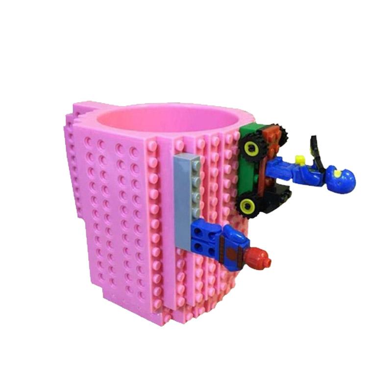 Κούπα Τύπου Lego Χρώματος Ροζ SPM BrickMug-Pink