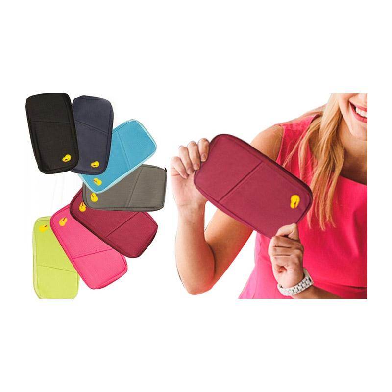 Θήκη για Διαβατήριο και Κάρτες Χρώματος Ροζ SPM R157476
