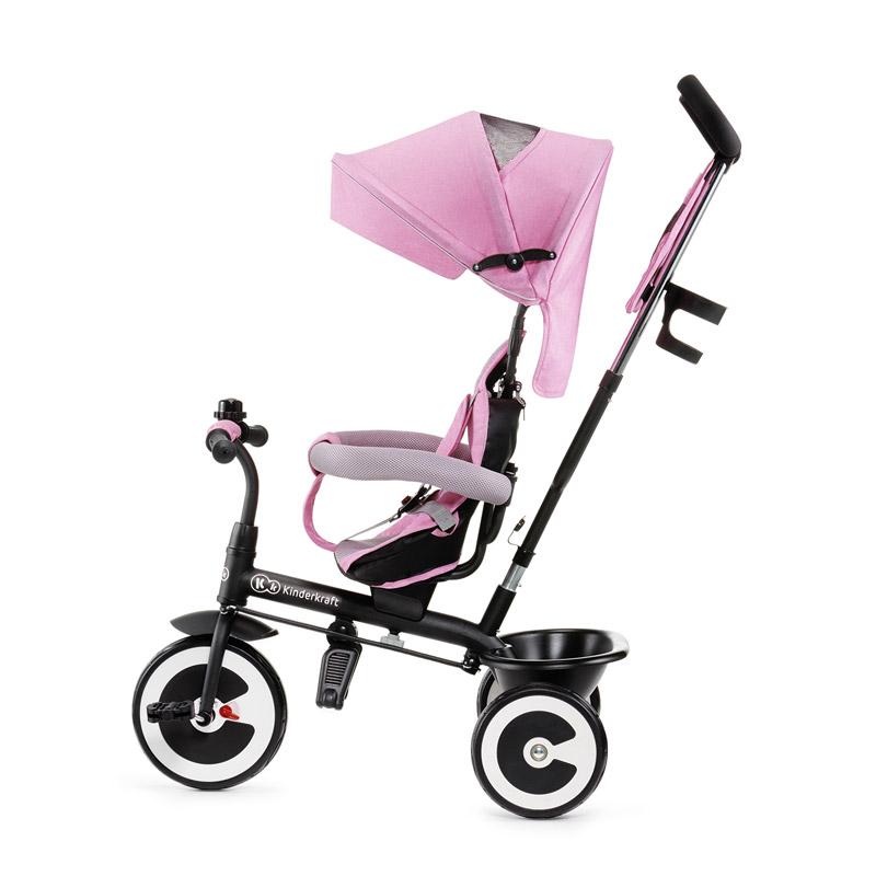696af694722 Τρίκυκλο Παιδικό Ποδήλατο - Καρότσι KinderKraft Aston Χρώματος Ροζ