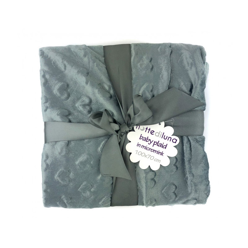 Βρεφική Κουβέρτα 100 x 70 cm Χρώματος Γκρι MWS15053