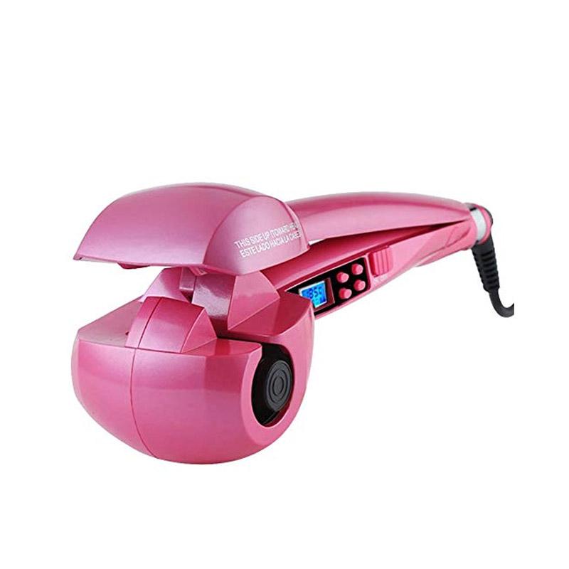 Αυτόματη Ηλεκτρική Συσκευή για Μπούκλες Χρώματος Ροζ Hoppline HOP1000854-2