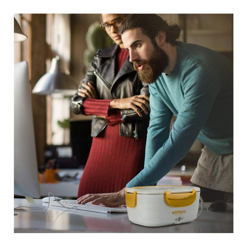 Ηλεκτρικό Θερμαινόμενο Φαγητοδοχείο Wintem Χρώματος Κίτρινο WK-1486