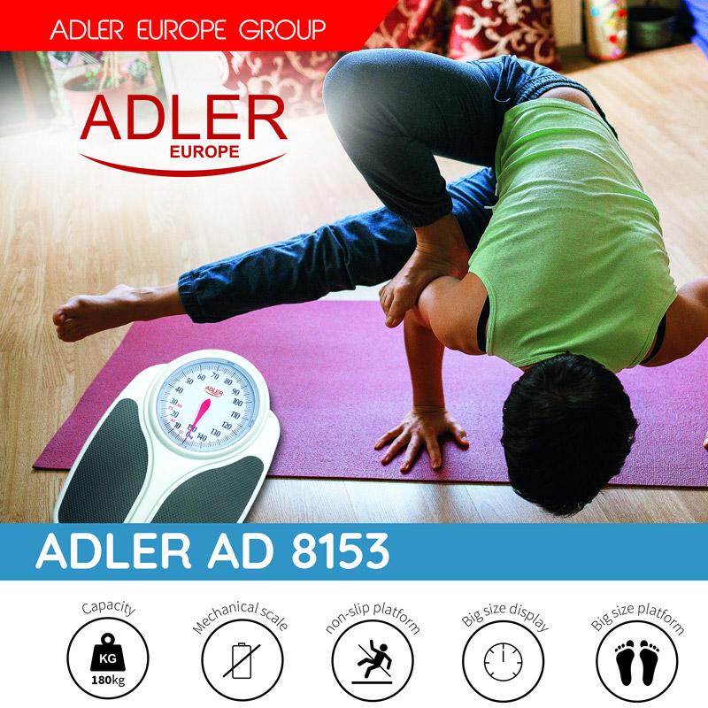Μηχανική Ζυγαριά Μπάνιου Adler AD-8153