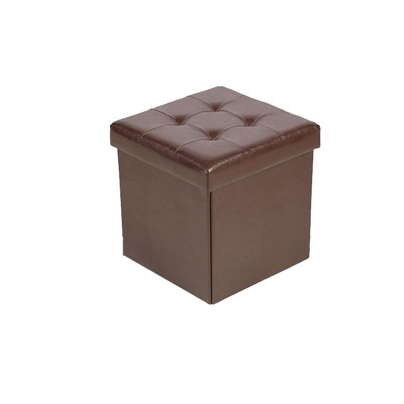 Πτυσσόμενο Σκαμπό με Αποθηκευτικό Χώρο 33 x 33 x 33 cm Χρώματος Καφέ Homestyle 32477