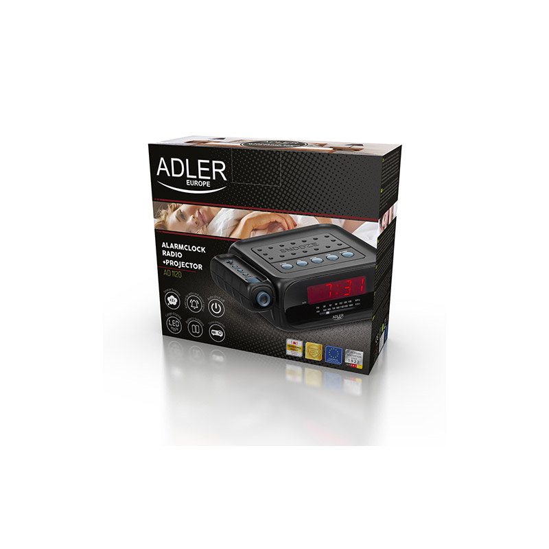 Ραδιορολόι - Ξυπνητήρι με Προτζέκτορα Αdler AD-1120