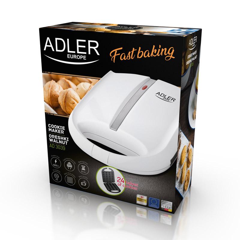Συσκευή για Cookies σε Μορφή Καρυδιών Adler AD-3039
