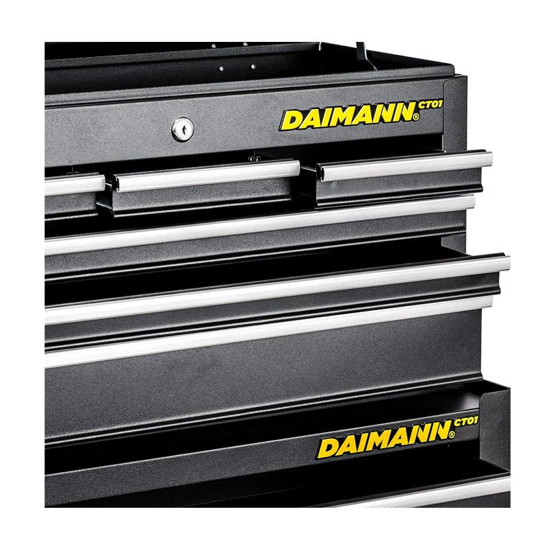 Τροχήλατος Εργαλειοφορέας με 10 Θέσεις Αποθήκευσης 62 x 33.5 x 109 cm Daimann CT01