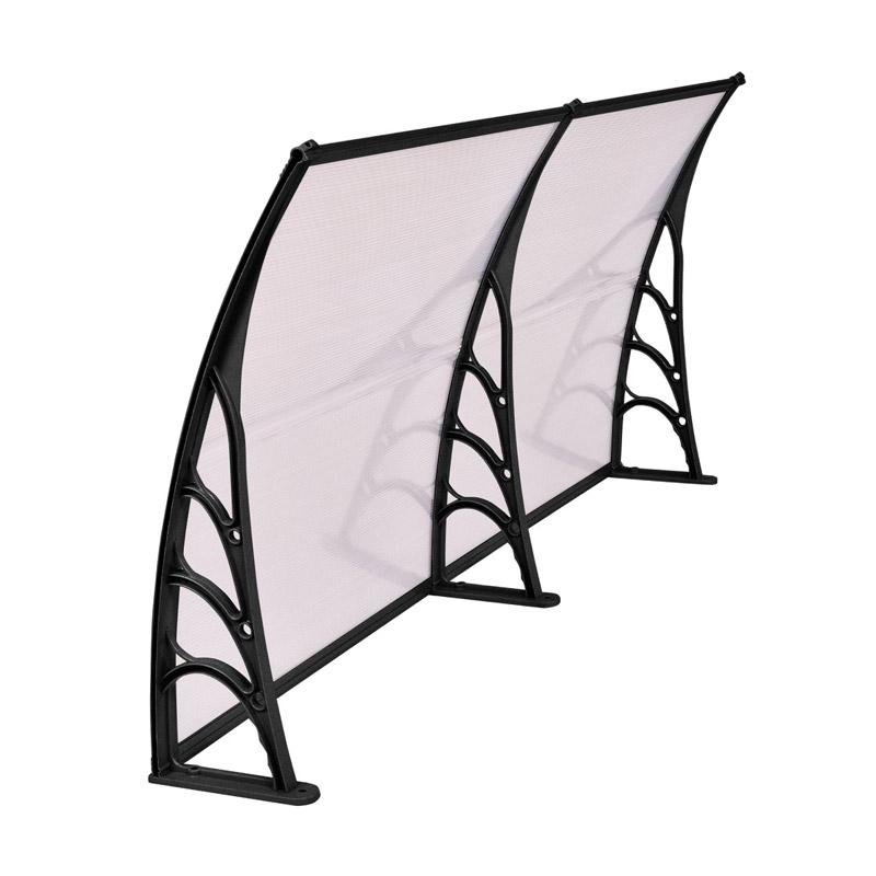 Διπλό Πλαστικό Κιόσκι - Τέντα Πόρτας Εισόδου 240 x 90 cm Hoppline HOP1000696-4