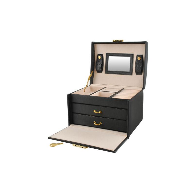 Κοσμηματοθήκη - Μπιζουτιέρα 17.5 x 13.8 x 13.5 cm Χρώματος Μαύρο SPM 6348