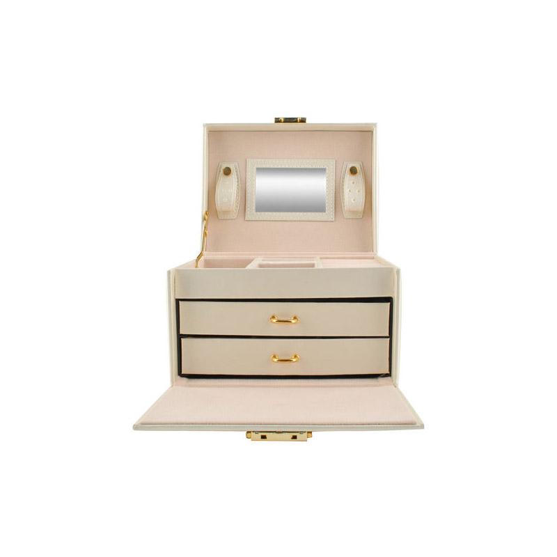 Κοσμηματοθήκη - Μπιζουτιέρα 17.5 x 13.8 x 13.5 cm Χρώματος Μπεζ SPM 6347
