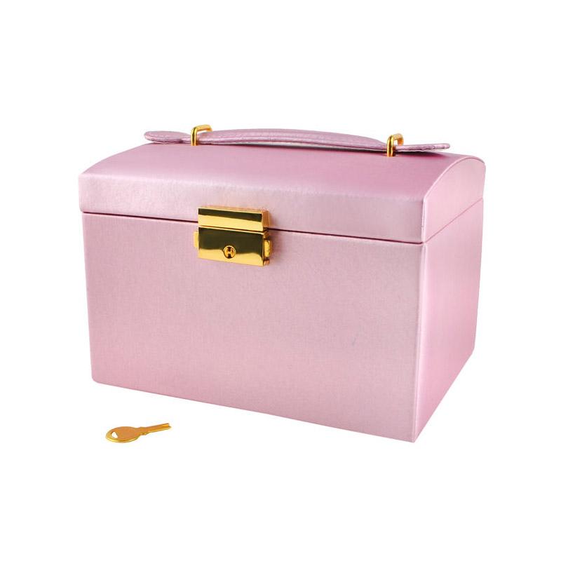 Κοσμηματοθήκη - Μπιζουτιέρα 17.5 x 13.8 x 13.5 cm Χρώματος Ροζ SPM 6400IT