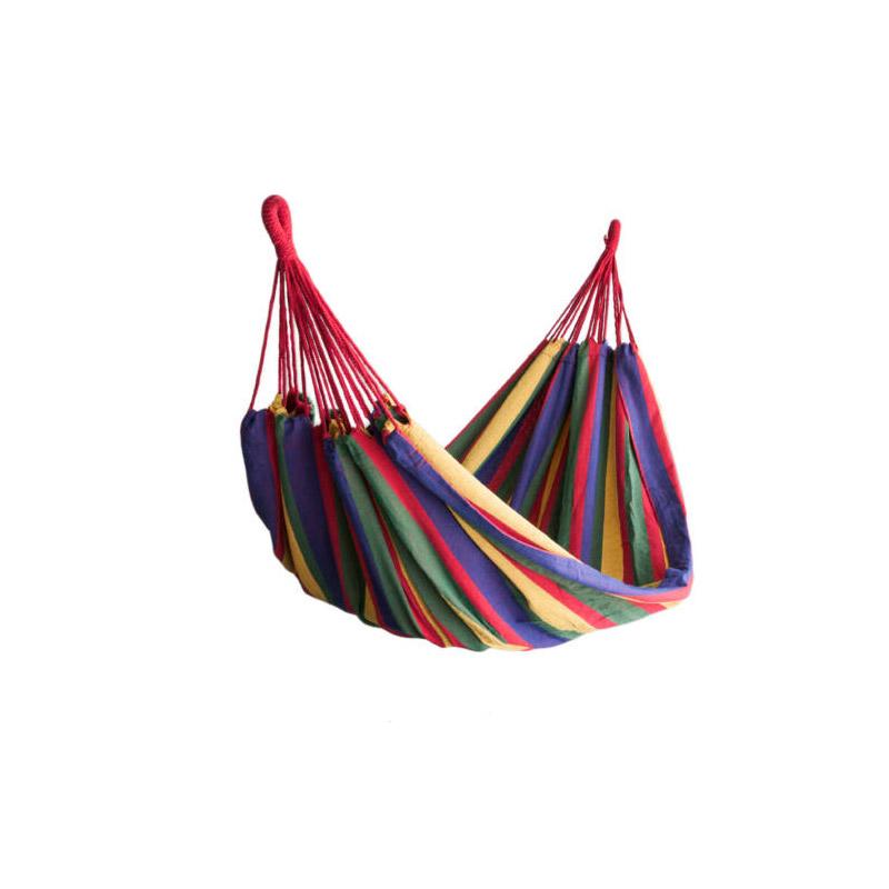 Υφασμάτινη Διπλή Αιώρα 185 x 150 cm Χρώματος Κόκκινο Hoppline HOP1000120-1