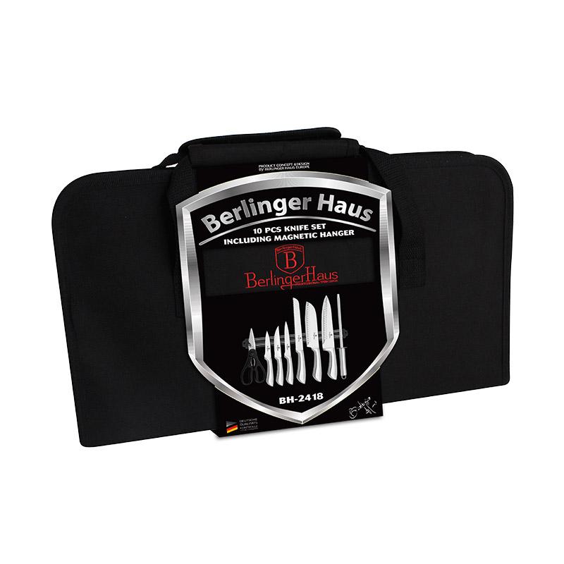 Σετ Μαχαίρια 9 τμχ από Ανοξείδωτο Ατσάλι με Μαγνητική Βάση Berlinger Haus BH-2418