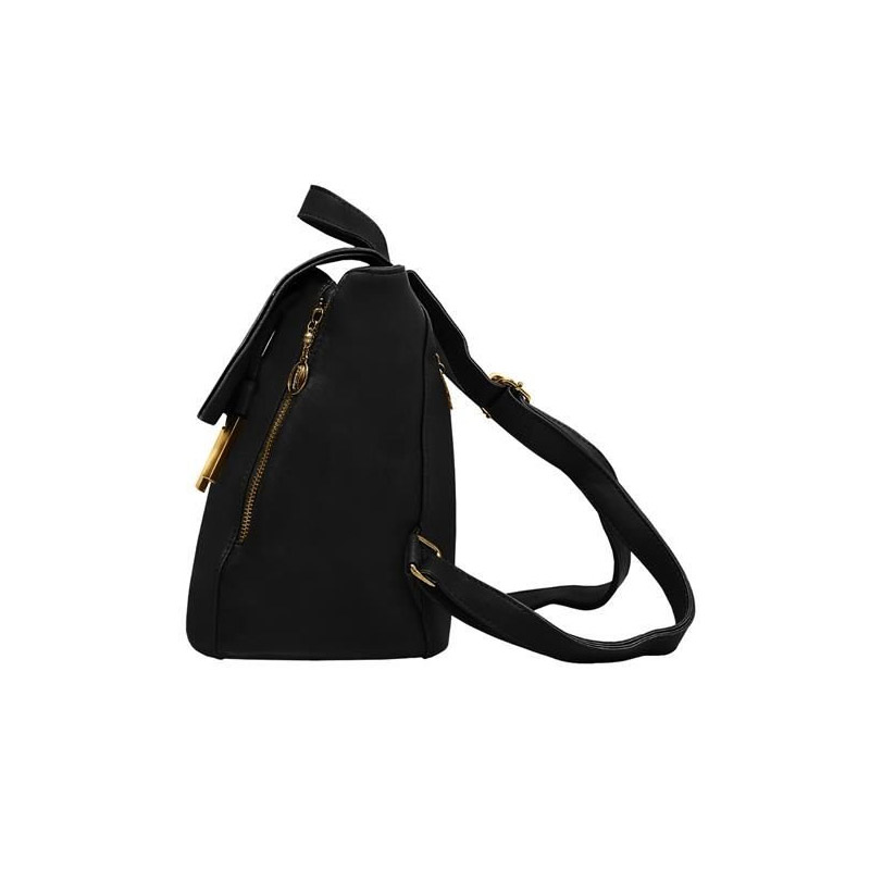 Γυναικεία Τσάντα Πλάτης με Μαγνητικό Κούμπωμα Χρώματος Μαύρο 6784