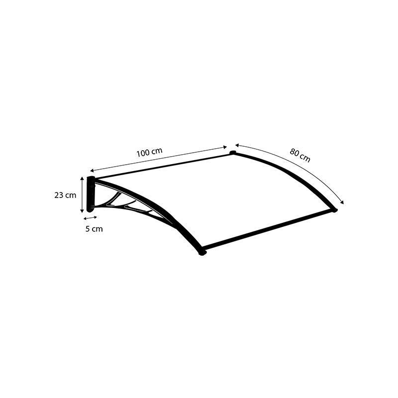 Πλαστικό Κιόσκι - Τέντα Πόρτας Εισόδου 80 x 100 cm SPM 30060134