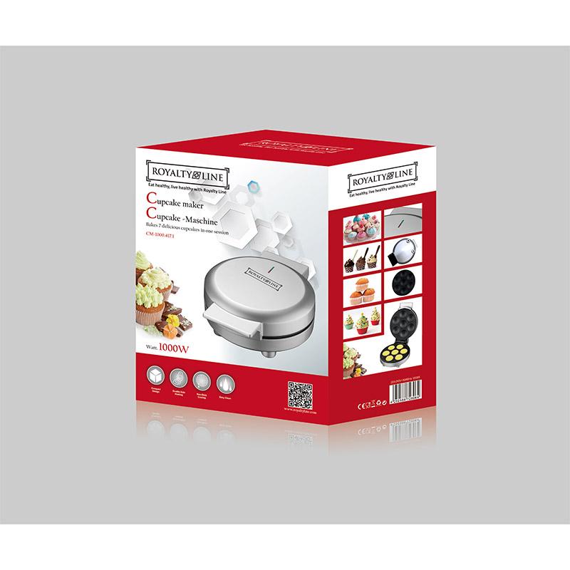 Συσκευή για Muffins και Cupcake Χρώματος Ασημί Royalty Line RL-CM1000