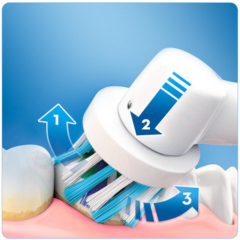Επαναφορτιζόμενη Ηλεκτρική Οδοντόβουρτσα Oral-B Smart 4 4000 Cross Action