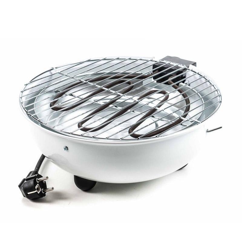 Επιτραπέζια Ηλεκτρική Ψηστιέρα - Γκριλιέρα Μπάρμπεκιου 1250 W Χρώματος Λευκό Cuisinier Deluxe 03023