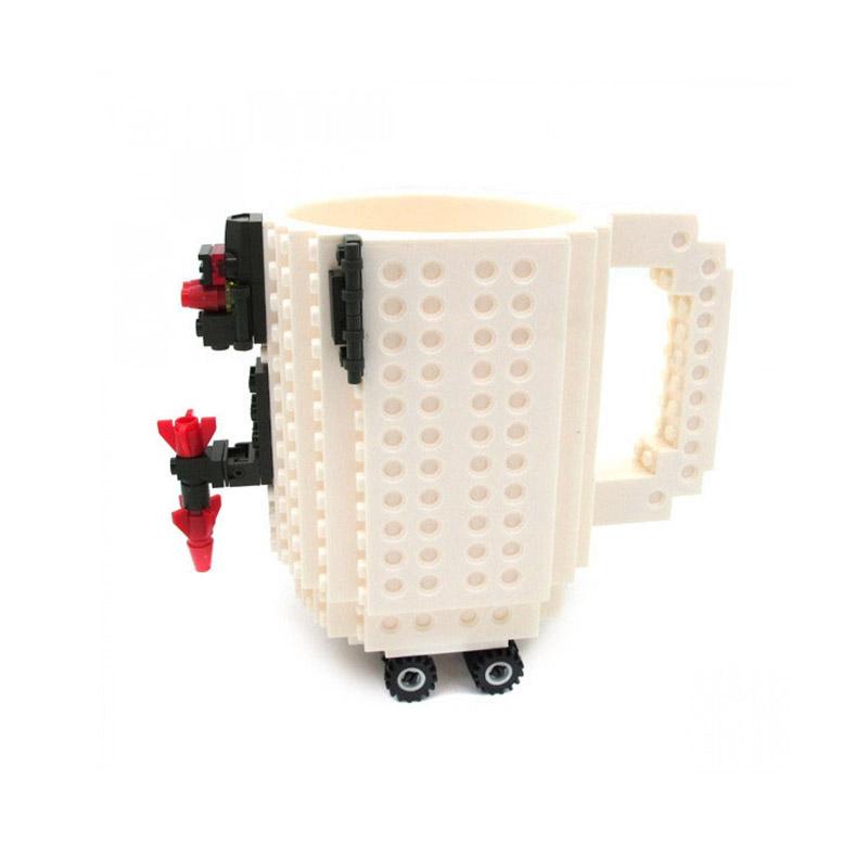 Κούπα Τύπου Lego Χρώματος Λευκό SPM BrickMug-White