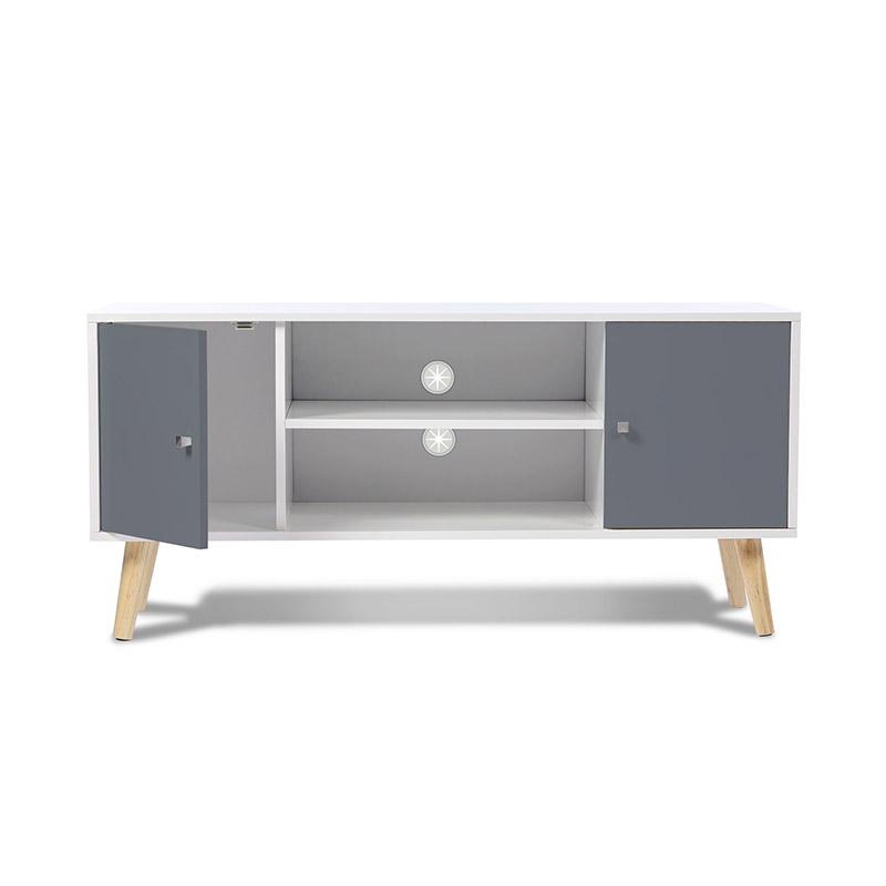 Ξύλινο Έπιπλο Τηλεόρασης 113 x 40 x 53.5 cm Χρώματος Γκρι Alesund SPM 50070511