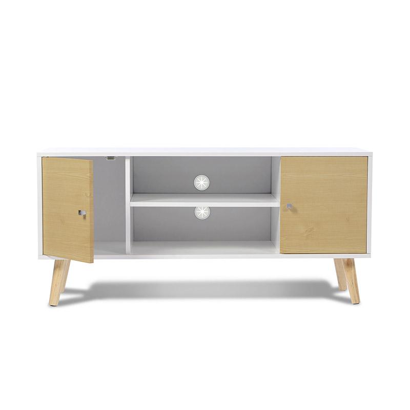 Ξύλινο Έπιπλο Τηλεόρασης 113 x 40 x 53.5 cm Χρώματος Μπεζ Alesund SPM 50070512