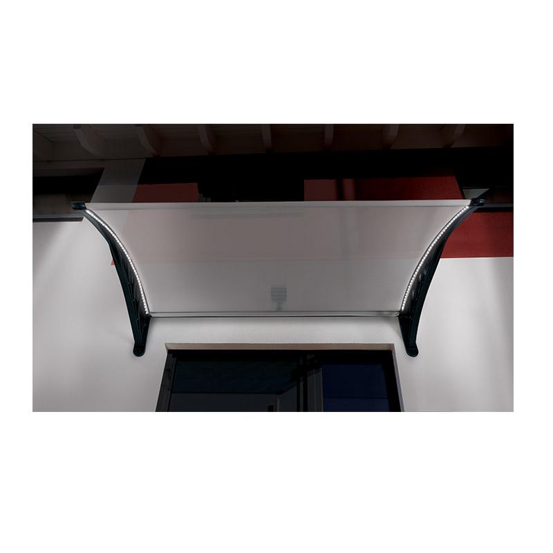 Πλαστικό Κιόσκι - Τέντα Πόρτας Εισόδου με Ηλιακό LED Φωτισμό 80 x 120 cm SPM 40070219