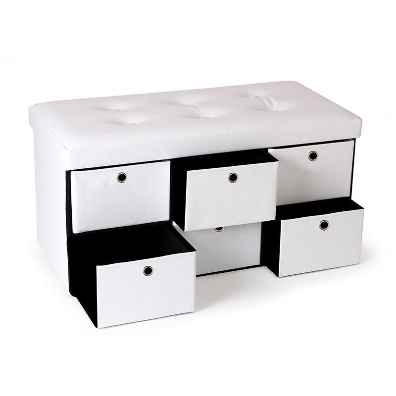 Πτυσσόμενος Πάγκος Αποθήκευσης με 6 Συρτάρια 100 x 38 x 38 cm Χρώματος Λευκό SPM 50070213