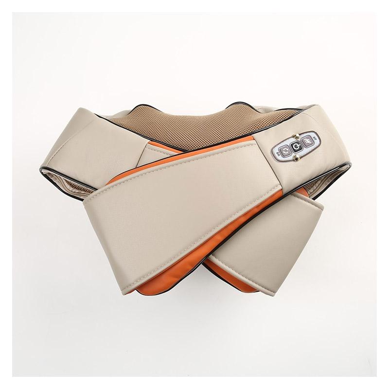 Συσκευή Μασάζ Shiatsu Αυχένα - Πλάτης με Θερμότητα Χρώματος Πορτοκαλί Cenocco CC-9042