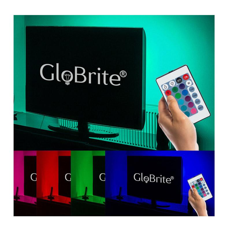 Πλήρες Κιτ Κρυφού Φωτισμού RGB με USB για Τηλεοράσεις και Τηλεχειριστήριο GloBrite TVBacklight-Remote