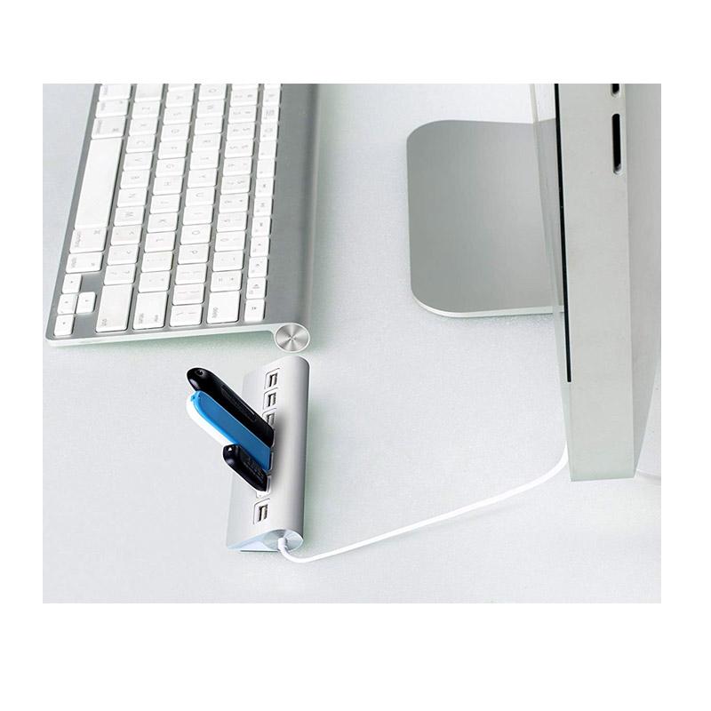 Premium Βάση Αλουμινίου με 7 Θύρες USB 2.0 και 2 Θωρακισμένα Καλώδια SPM 7USBhub