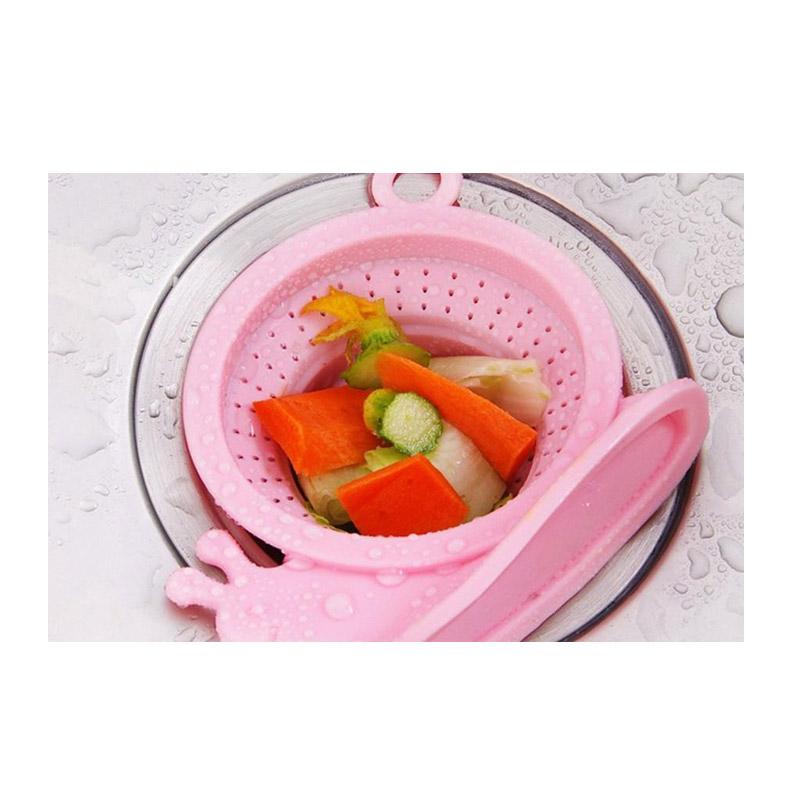 Ρυθμιζόμενη Τάπα Σιφωνιού για τις Τρίχες σε Σχήμα Σαλιγκάρι Χρώματος Ροζ SPM SnailDrain-PINK