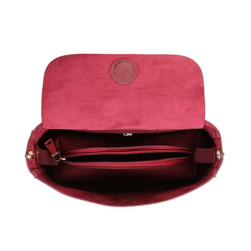 Γυναικεία Τσάντα Ώμου Χρώματος Μπορντό Beverly Hills Polo Club 777 650BHP0641