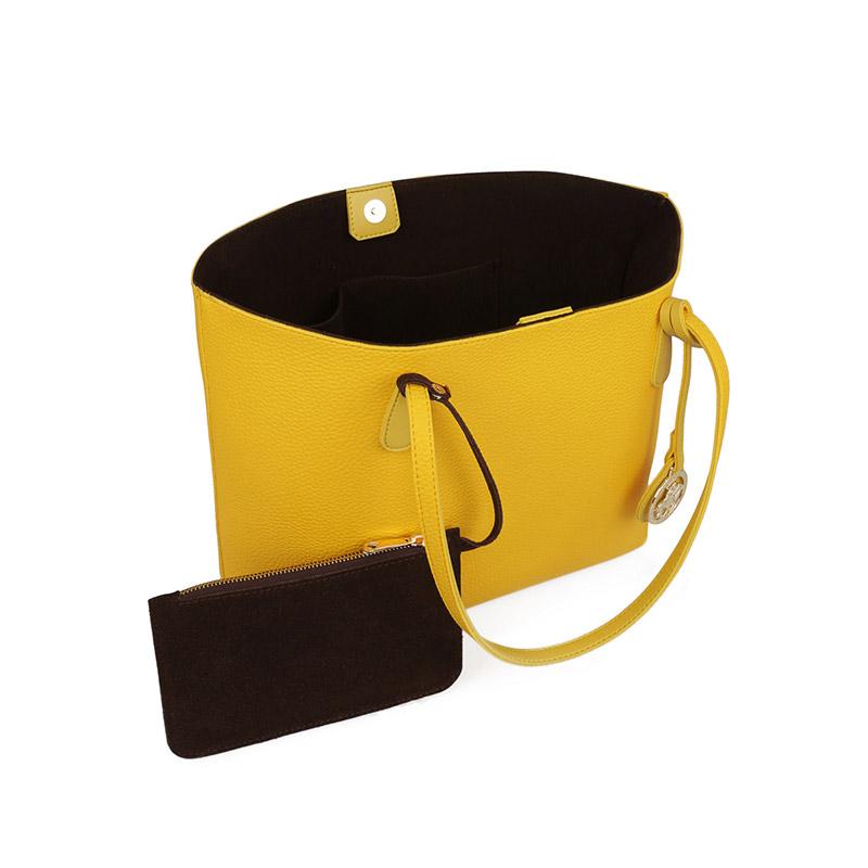 Γυναικεία Τσάντα Χειρός Χρώματος Κίτρινο Beverly Hills Polo Club 402 657BHP0777