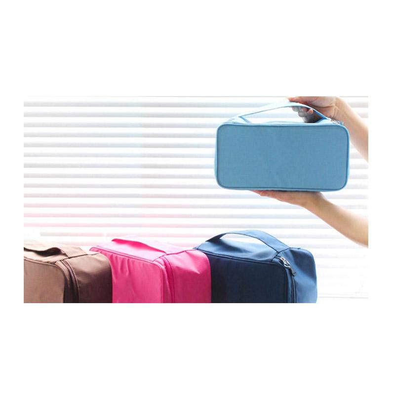 Τσάντα Αποθήκευσης Εσωρούχων Ταξιδίου Χρώματος Μπλε UndiesCosmOrg-BLUE