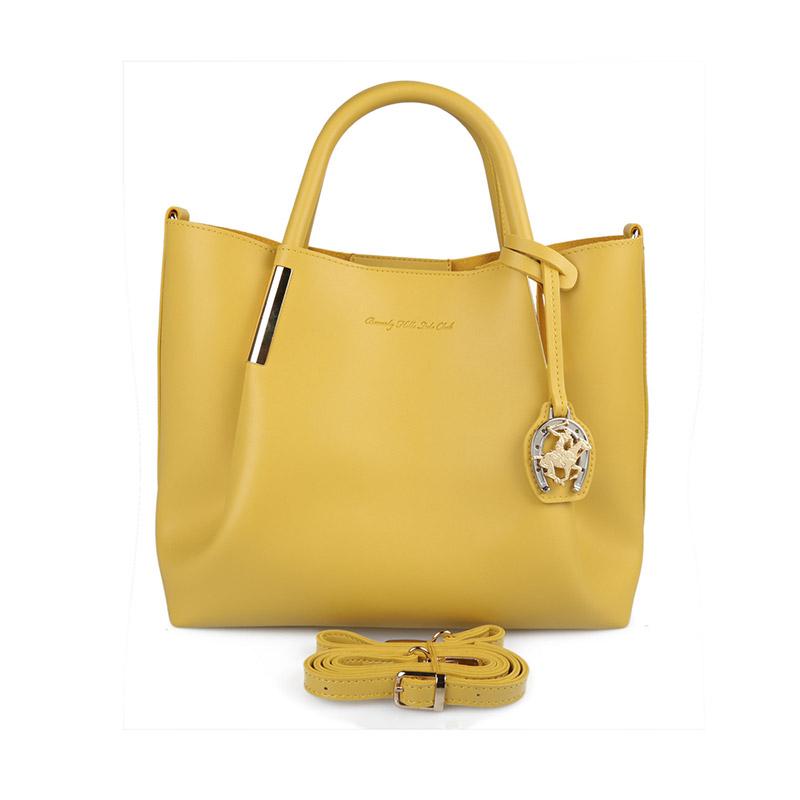 Γυναικεία Τσάντα Χειρός Χρώματος Κίτρινο Beverly Hills Polo Club 701 657BHP0609