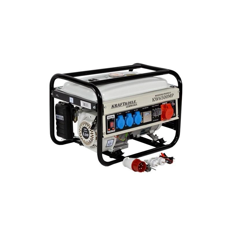 Φορητή Τριφασική Ηλεκτρογεννήτρια Βενζίνης 2500 W 12/230/380 V Kraft&Dele KD-105